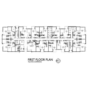 Fulton Commons Apartments 1st floor plan